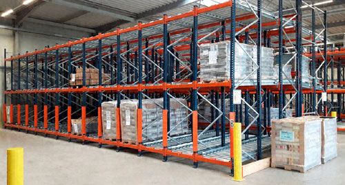 Oppermann reorganises the operation of its warehouse with push-back racking with rollers